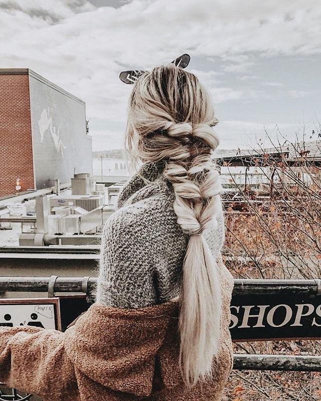 34 Pretty hairstyles That You Should Try On, half up half down hairstyles, braid hairstyles , braids #hairstyles #halfuphairstyles
