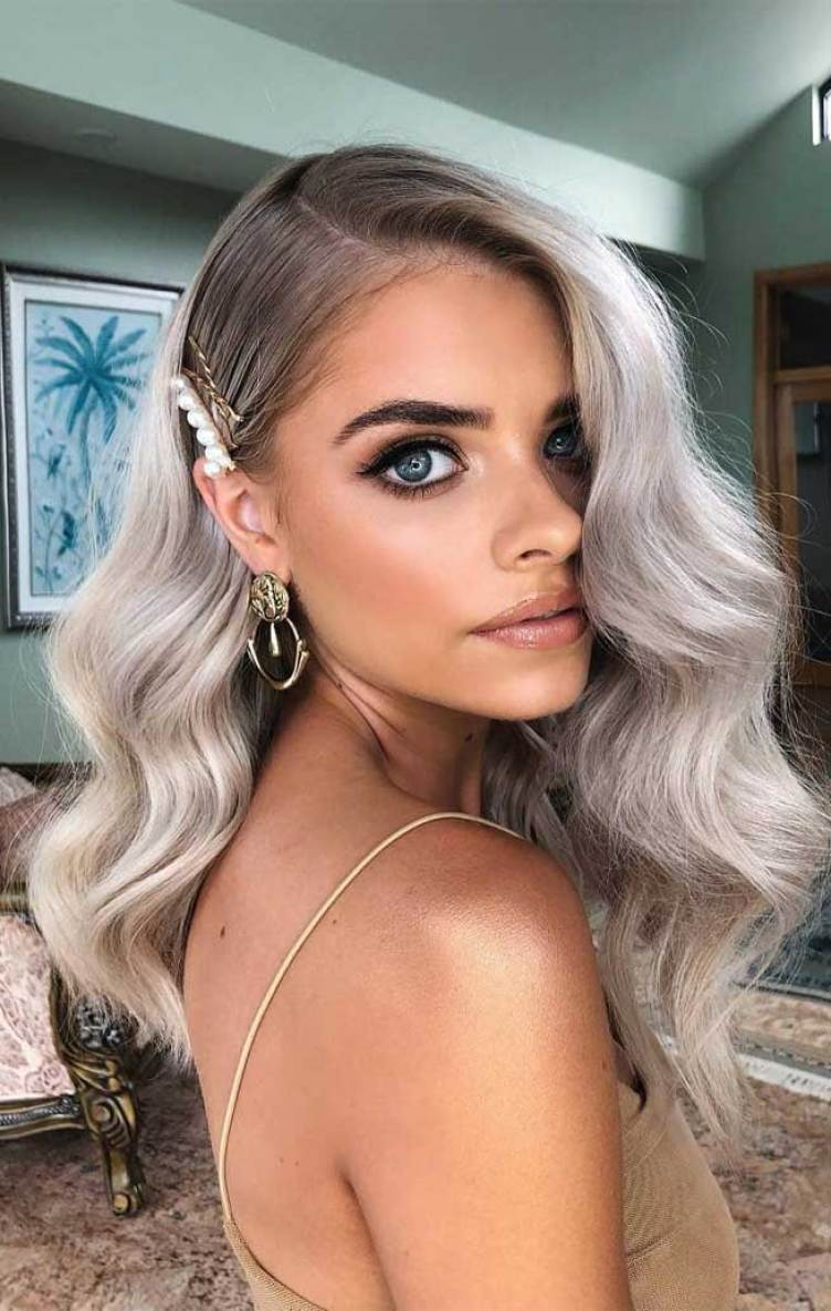 49 Pretty hairstyles that will change your look, pretty hairstyles, #hairstyles , classic waves, wavy hairstyles