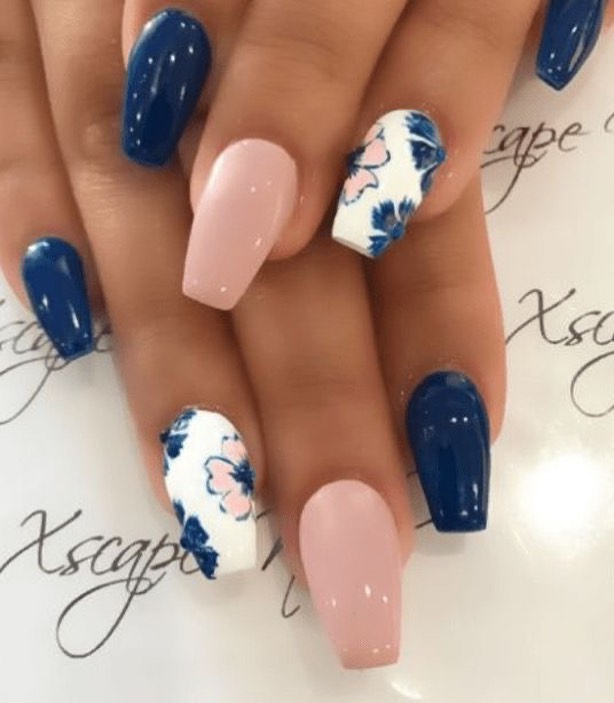 100 spring nail art ideas 2020, best spring nails 2020, flower nail art designs, spring nail art designs, nail art designs #nailart #springnails