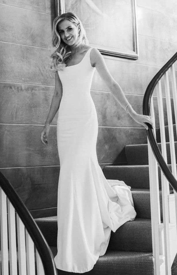 32 Beach Wedding Dresses Perfect For A Destination Wedding, simple wedding dress , straps wedding gown #weddingdress #weddinggown