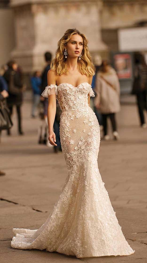 off the shoulder wedding dress #weddingdresses