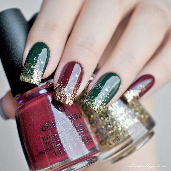 70 pretty festive nail art designs, christmas nail art , christmas nails , festive nails, christmas nail designs, christmas nail ideas #christmasnails #festivenails