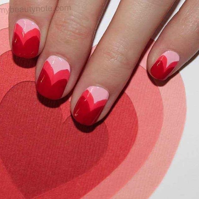 best nail art ideas for Valentine's day 2020 - 9, valentine nails 2020, valentines day nails 2020, valentine's day acrylic nails, valentine gel nails, valentines day nails 2020, nail designs, heart nail art , pink nail art, pink nail colors, simple heart nail designs, easy heart nail art, heart nail designs for short nails, heart tip nails,  heart toe nail designs, pink nails with red hearts