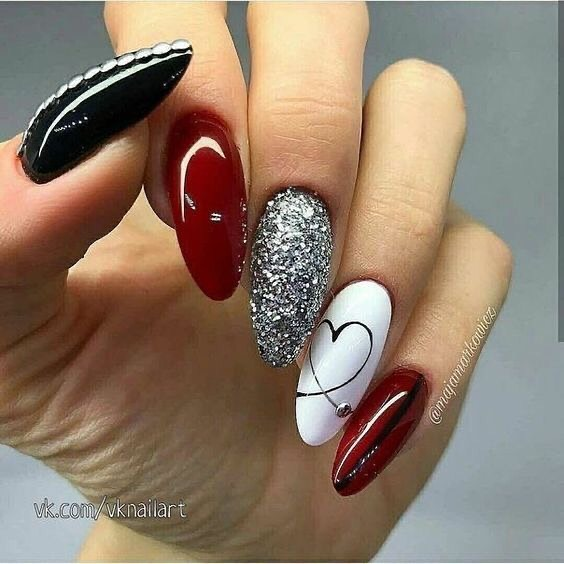 best nail art ideas for Valentine's day 2020 - 28, valentine nails 2020, valentines day nails 2020, valentine's day acrylic nails, valentine gel nails, valentines day nails 2020, nail designs, heart nail art , pink nail art, pink nail colors, simple heart nail designs, easy heart nail art, heart nail designs for short nails, heart tip nails, heart toe nail designs, pink nails with red hearts