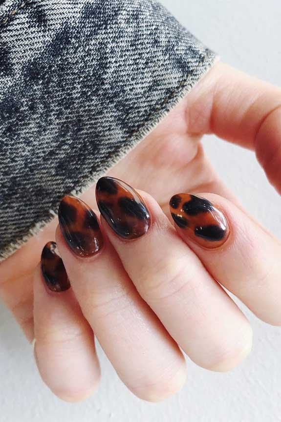 100 spring nail art ideas 2020, best spring nails 2020, mismatched nail art designs, spring nail art designs, nail art designs #nailart #springnails tortoiseshell nails
