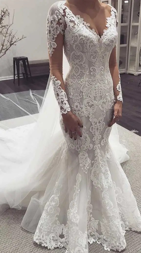 100 the most incredible wedding dresses, long sleeve lace mermaid wedding dresses, lace mermaid wedding dress with sleeves, lace wedding dresses, lace long sleeve wedding dress, long sleeve mermaid wedding gown, wedding dreses