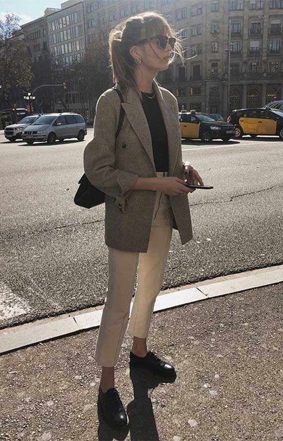 spring outfit 2020, what to wear in spring, checked blazer , spring outfit ideas 2020