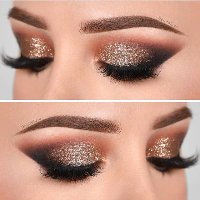 eye makeup looks, best eye makeup looks, neutral eyemakeup looks, natural makeup, evening makeup , eye makeup ideas 2020, gold glitter eye makeup looks, glitter eye makeup