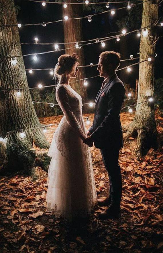 Autumn wedding color palette in dark blue & autumn colors, romantic bride and groom portraits , wedding photo, bride and groom wedding photo #wedding #weddingphoto #autumnwedding fall wedding color , wedding color ideas