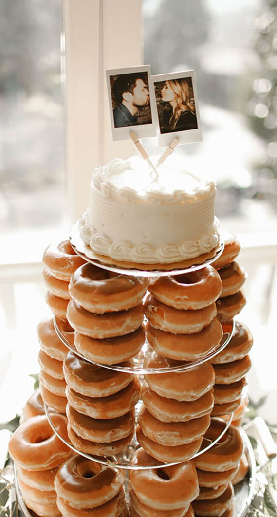 8 Awesome wedding cake with donuts #weddingcake wedding cake with donuts, alternative wedding cake, wedding cake , wedding cake ideas, alternative wedding cakes , wedding cakes 2020 , best wedding cakes 2020, simple wedding cake