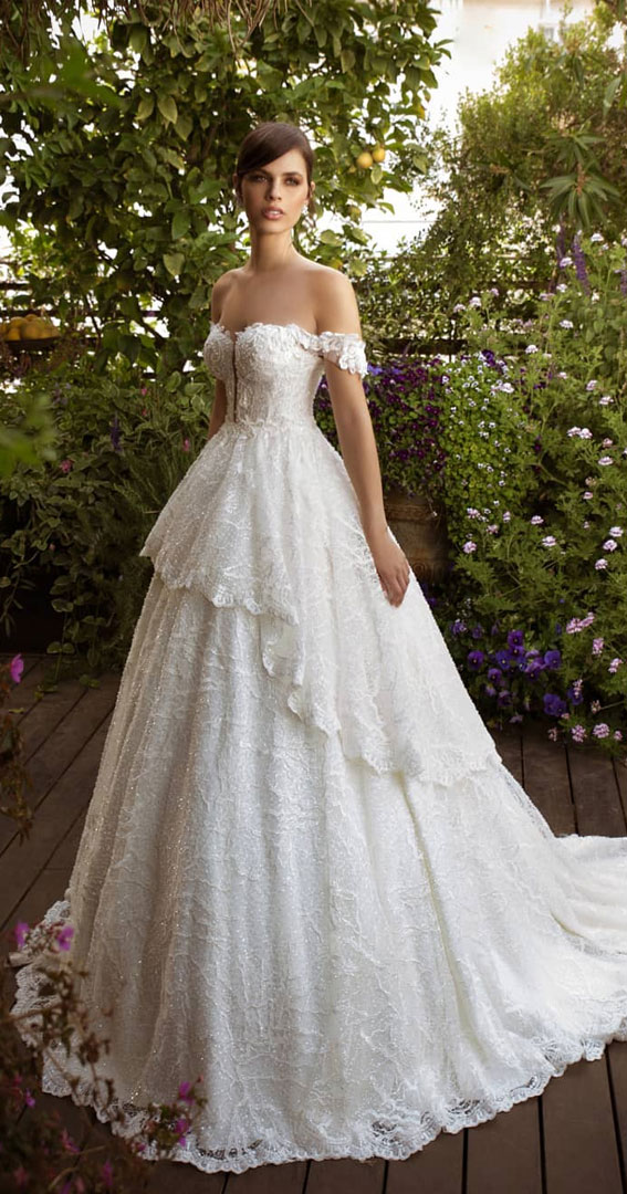 off the shoulder layered wedding dress, off-the-shoulder wedding dress, off the-shoulder beach wedding dress, off-the-shoulder wedding dresses, cold shoulder wedding dress, one shoulder wedding dress, fit and flare off the shoulder wedding dress, off shoulder fishtail wedding dress, off the shoulder sweetheart neckline, off the shoulder wedding dress