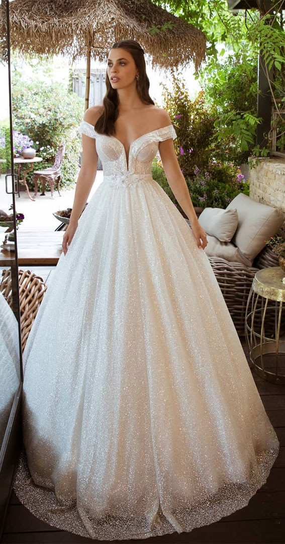 off the shoulder ball wedding gown, off-the-shoulder wedding dress, off the-shoulder beach wedding dress, off-the-shoulder wedding dresses, cold shoulder wedding dress, one shoulder wedding dress, fit and flare off the shoulder wedding dress, off shoulder fishtail wedding dress, off the shoulder sweetheart neckline, off the shoulder wedding dress