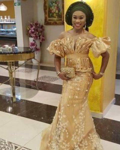 latest gold aso ebi styles