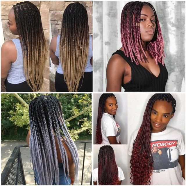 two toned box braids latest hairstyles - fabwoman | news