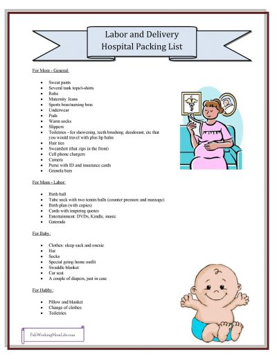 Labor and Delivery Hospital Packing List   Fab Working Mom Life #pregnancy #motherhood #maternity #birth