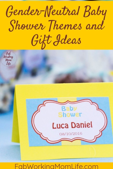 Gender-Neutral Baby Shower Themes and Gift Ideas