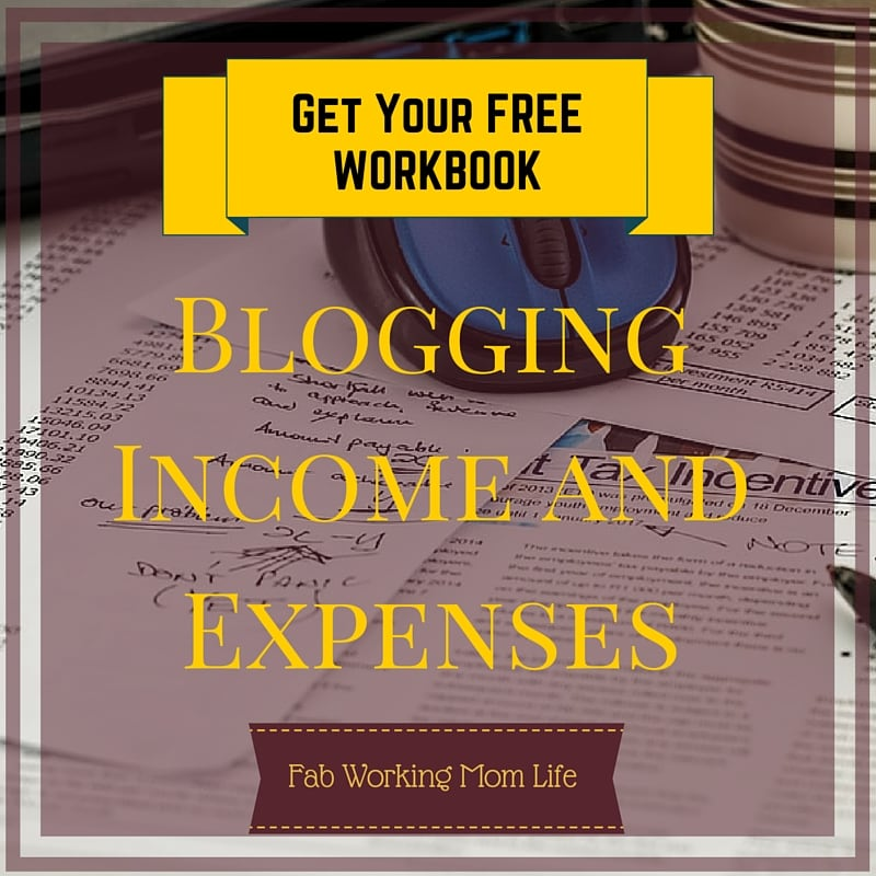 Blog Income & Expenses Workbook