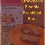 How to make the best No-Guilt Breakfast: Strawberry Blondie Bars mix