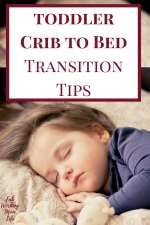 Toddler crib to bed transition tips