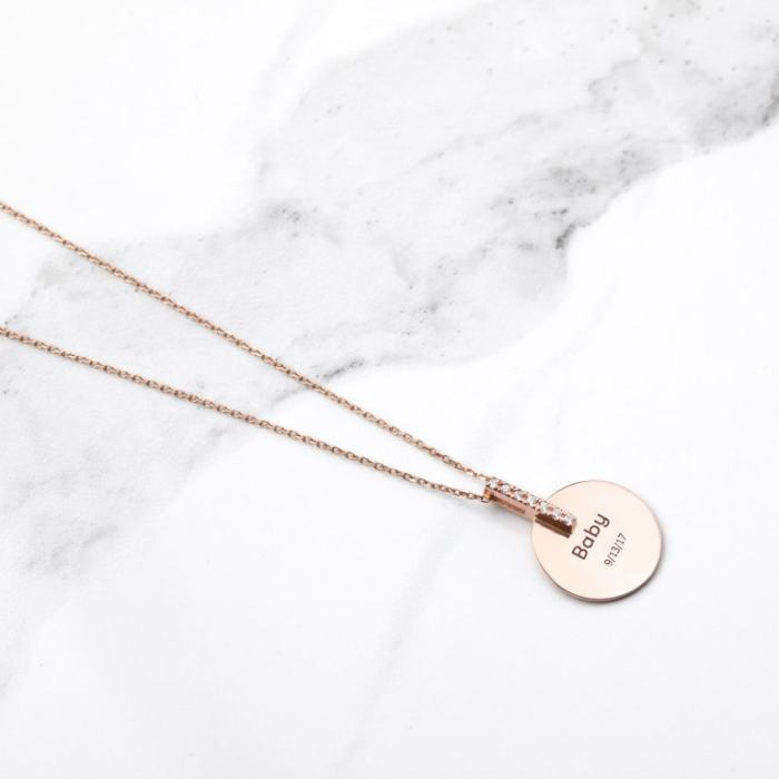 Baby Gold Disk Necklace AU-Rate
