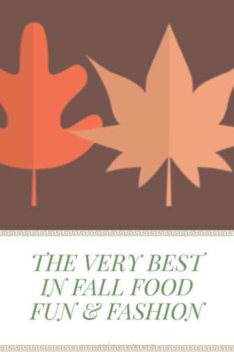 The Very Best In Fall, Food, Fun, and Fashion