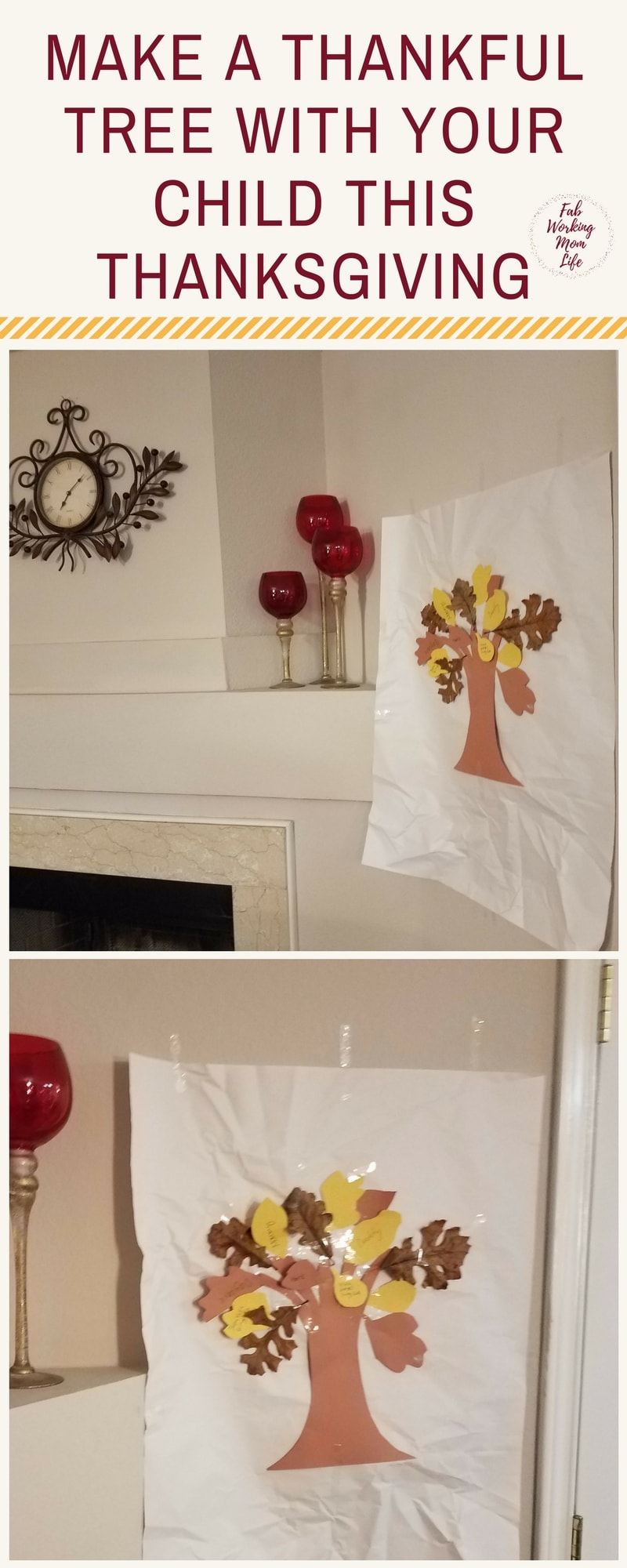Make a Thankful Tree with your Child this Thanksgiving #thanksgiving #toddlers #preschoolers