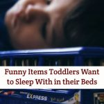 Funny Items Toddlers Want to Sleep With in their Beds