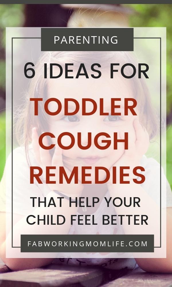 toddler cough remedies