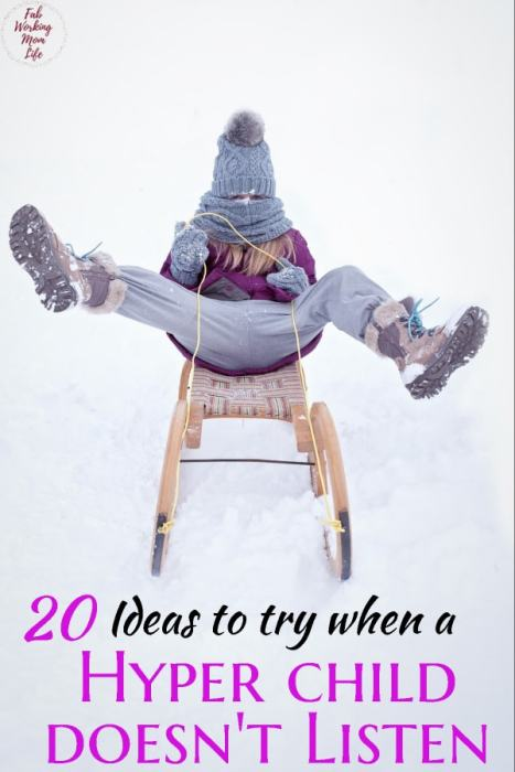 20 Ideas to try when Hyper Child doesn't listen - Try This Mom Advice | Fab Working Mom Life #Parenting #children #toddler #preschooler #parentingtip #hyper #sensory