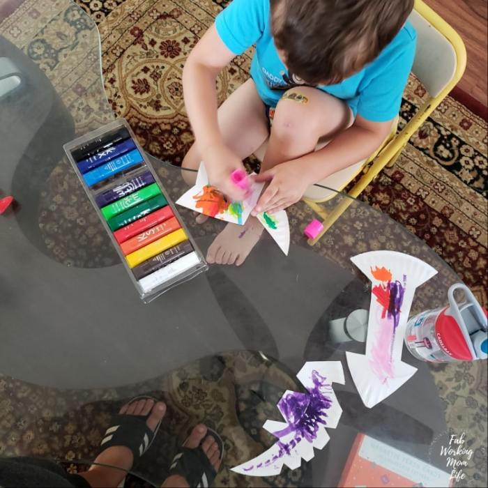 Kwik Stix Summer Toddler Craft Firework Dinosaurs