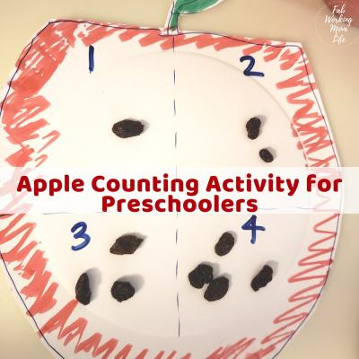 Try this Easy Apple Counting Activity for Preschoolers that's perfect for back to school season | Fab Working Mom Life