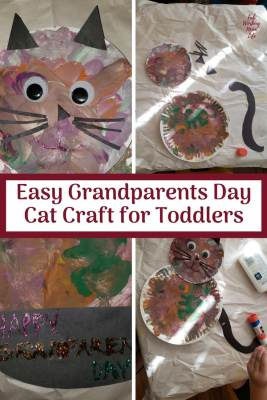 Easy Grandparents Day Toddler Craft: Make a Kitty Cat