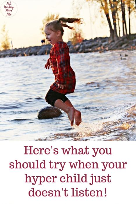 Try this mom advice when your hyper child just does not listen | Fab Working Mom Life #Parenting #children #toddler #preschooler #parentingtip #hyper #sensory