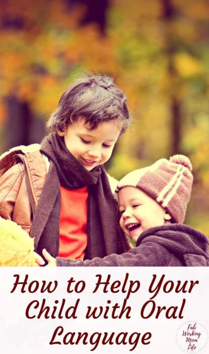 How to help your child with oral language from an early age | Fab Working Mom Life