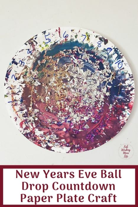 New Years Eve Ball Drop Countdown Paper Plate Craft | Fab Working Mom Life