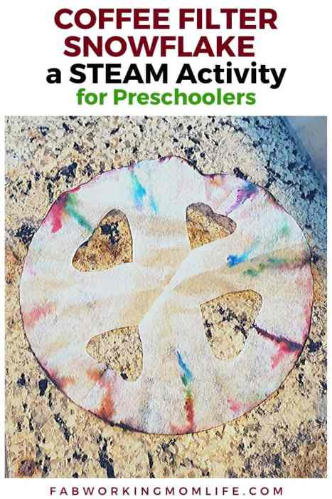 Filtro de café Snowflake STEAM actividad para preescolares