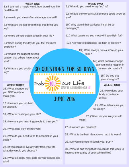 30 Questions for 30 Days June (2)