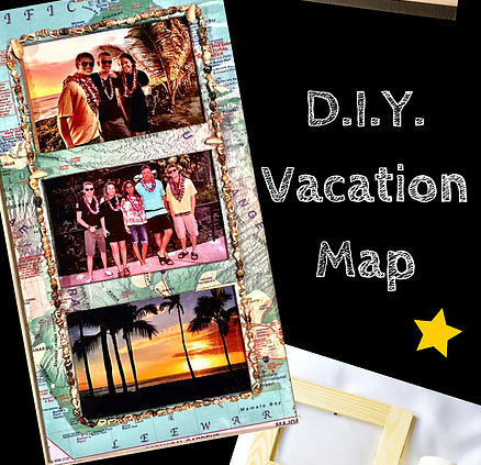 Fab-YOU-lously Simple D.I.Y. Vacation Map Frame