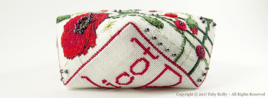Poppy Biscornu - Faby Reilly Designs