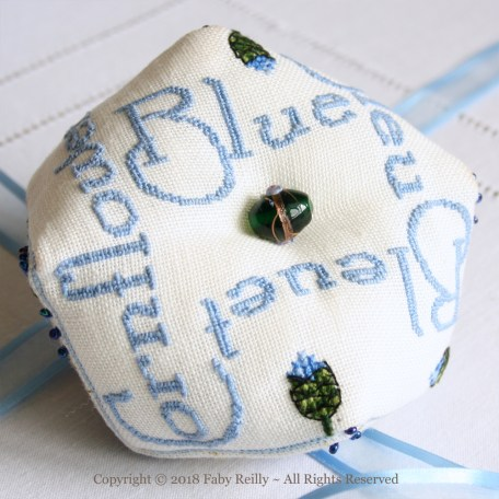 Cornflower Biscornu – Faby Reilly Designs