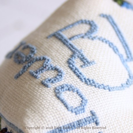 Cornflower Biscornu – Faby Reilly Designs