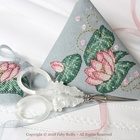 Pink Lotus Scissor Case – Faby Reilly Designs
