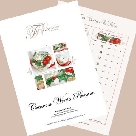 Christmas Wreath Biscornu FRD00