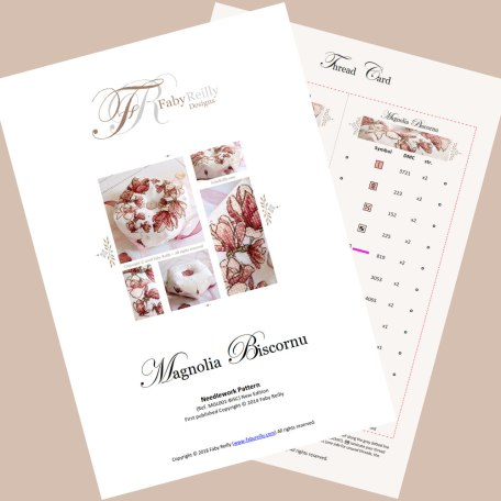 Magnolia Biscornu featured pages