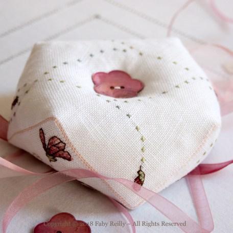 Magnolia Biscornu – Faby Reilly Designs