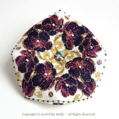 Black Tulip Biscornu - Faby Reilly Designs