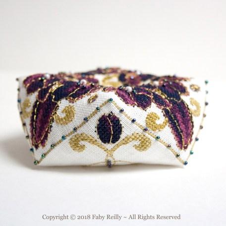 Black Tulip Biscornu – Faby Reilly Designs
