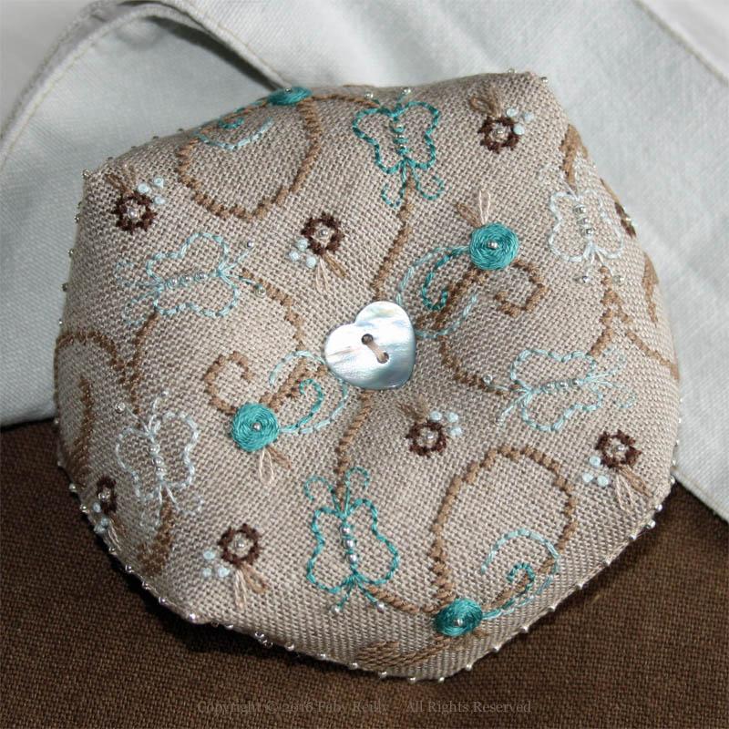 Butterfly Biscornu - Faby Reilly Designs