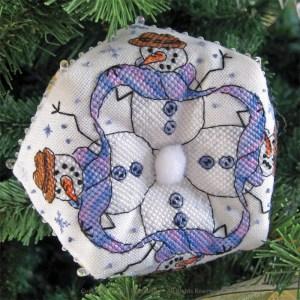 Snowmen Biscornu - Faby Reilly Designs
