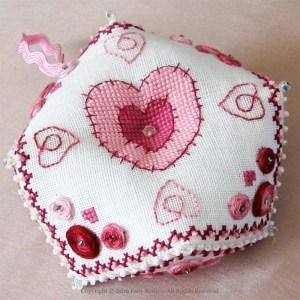 Hearts Biscornu
